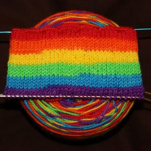 Pre-Order - Self striping, Wide Stripes, Sock Yarn, Neon Rainbow, Hand Dyed, Merino/Nylon - BRIGHT RAINBOW